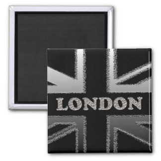 Union Jack London Flag Art Gifts 2 Inch Square Magnet