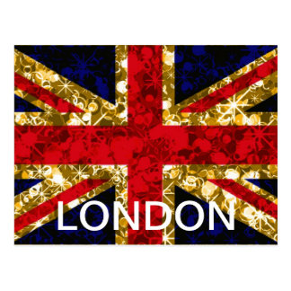 Union Jack London glamour postcard