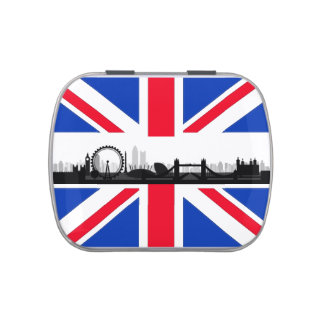 Union Jack London Theme Party Favor Candy Tin