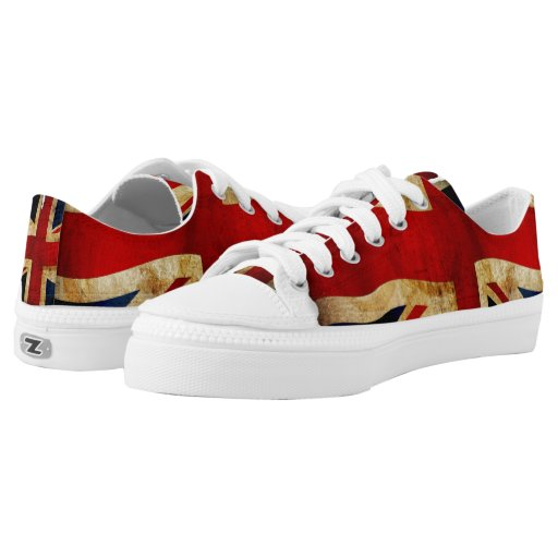 Union Jack... Low-Top Sneakers auf Zazzle