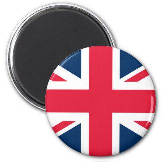 Union Jack 2 Inch Round Magnet