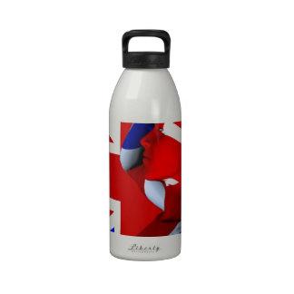 Union Jack Man Reusable Water Bottle