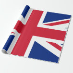 """Union Jack Matte Wrapping Paper, 30"""" X 6' Wrapping Paper at Zazzle"""