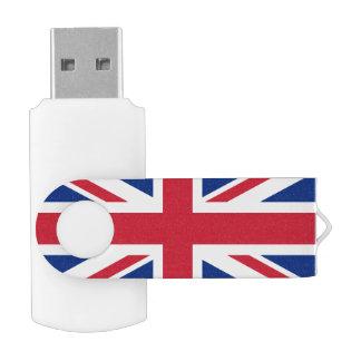 Union Jack Pen Drive Giratorio USB 2.0