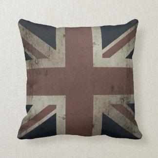 Union Jack (mirada apenada vintage descolorada) Almohada