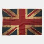 Union Jack (mirada apenada vintage) Toalla De Cocina