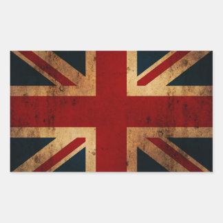 Union Jack (mirada apenada vintage) Rectangular Altavoces