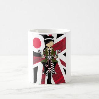 Union Jack Mod Girl on Scooter Coffee Mug