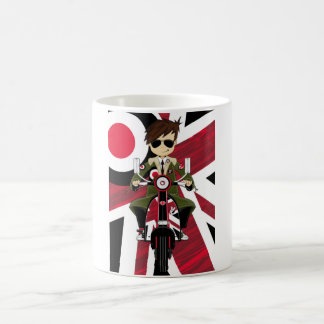 Union Jack Mod on Retro Scooter Coffee Mug