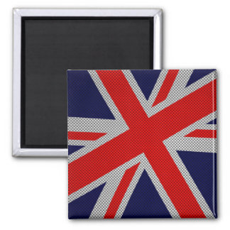 Union Jack moderno en la impresión del estilo de Imán Cuadrado