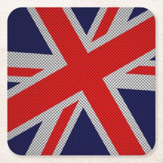Union Jack moderno en la impresión del estilo de Posavasos Desechable Cuadrado