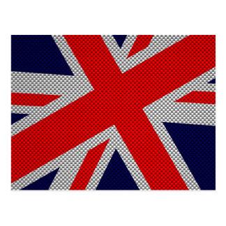 Union Jack moderno en la impresión del estilo de Tarjeta Postal