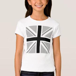 Union Jack/monocromo cuadrado de la bandera Playera