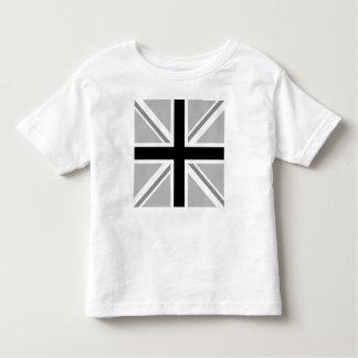 Union Jack/monocromo cuadrado de la bandera Playera De Bebé