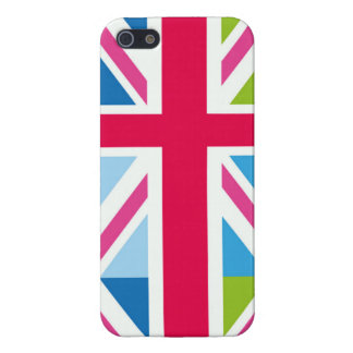 Union Jack Multi Colored Print Cover For iPhone SE/5/5s