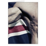 union jack Muscle Greeting Card