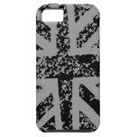 Union Jack negro apenado iPhone 5 Case-Mate Cárcasa