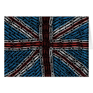Union Jack of Paperclips Card