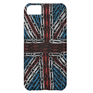 Union Jack of Paperclips Case For iPhone 5C