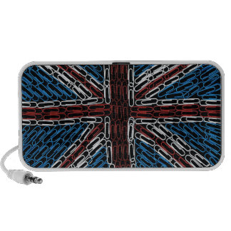 Union Jack of PaperClips Laptop Speakers