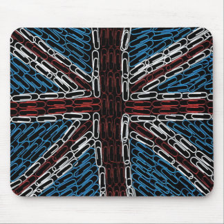 Union Jack of Paperclips Mouse Pad