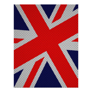 Union Jack on Carbon Fiber Style Print Flyer