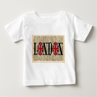 Union Jack on Dictionary Page Baby T-Shirt