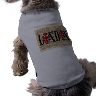 Union Jack on Dictionary Page Doggie T Shirt