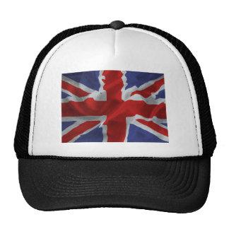 Union Jack ondulado Gorros Bordados