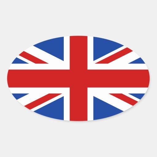Union Jack Oval Sticker