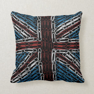 Union Jack Paperclips Pillow