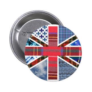 Union Jack Patchwork Pattern Button