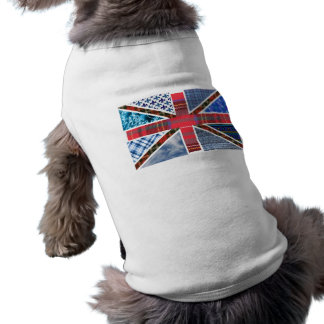 Union Jack Patchwork Pattern Dog Tee