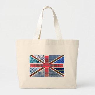 Union Jack Patchwork Pattern Large Tote Bag