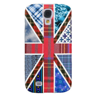 Union Jack Patchwork Pattern Samsung Galaxy S4 Cover
