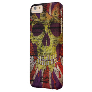 Union Jack Patriotic Skull On Gunge Wall Flag Barely There iPhone 6 Plus Case