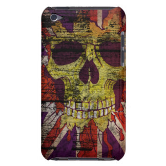 Union Jack Patriotic Skull On Gunge Wall Flag iPod iPod Touch Cover