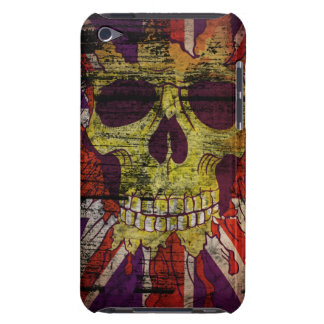 Union Jack Patriotic Skull On Gunge Wall Flag iPod iPod Touch Case