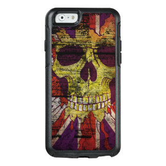 Union Jack Patriotic Skull On Gunge Wall Flag OtterBox iPhone 6/6s Case