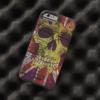 Union Jack Patriotic Skull On Gunge Wall Flag Tough iPhone 6 Case