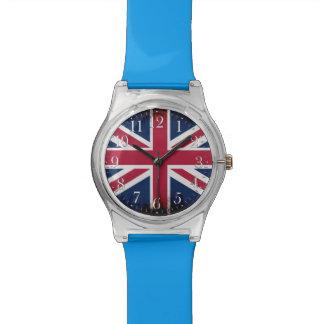 Union Jack patriótico, bandera de unión BRITÁNICA Reloj