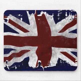 Union Jack patriótico, bandera de unión BRITÁNICA Tapetes De Raton