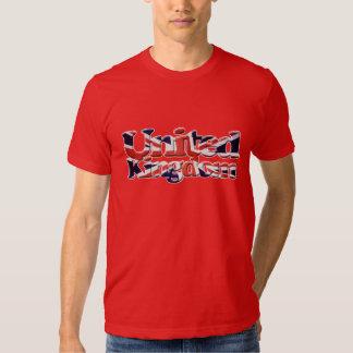 Union Jack patriótico británico, bandera de unión Playeras