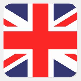 Union Jack Pegatina Cuadrada
