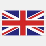 Union Jack Pegatina Rectangular