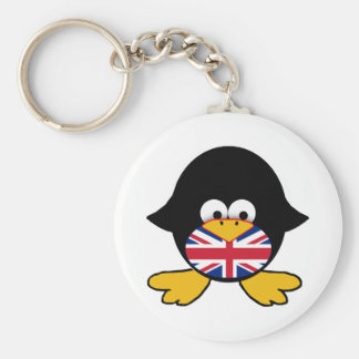 Union Jack Penguin Keychain