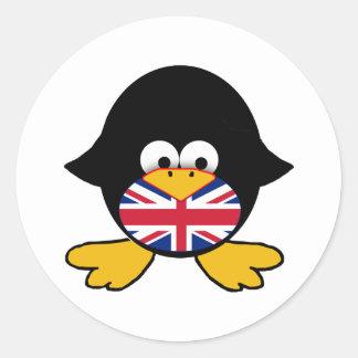 Union Jack Penguin Stickers