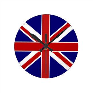 Union Jack Pentagram Flag Round Clocks