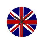 Union Jack Pentagram Flag Wall Clocks