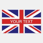 Union Jack personalizable británico de los pegatin Rectangular Altavoces